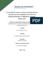 Tesis de Narración de Cuentos en El Desarrollo de La Expresión Oral