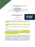 Alfonso v. JPMorgan Chase Bank, N.a. DCA Ruling