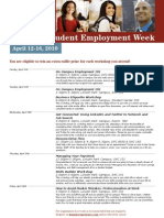 National Student Employment Week April 12-16, 2010