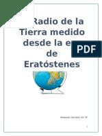 MEDICION DEL RADIO DE LA TIERRA (I)