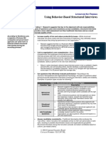 RR Using Behavior Based Structured Interviews
