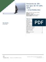 DIN - Spur Gear 3M 15T 20PA 30FW ---S15A75H50L10S2-Análisis Estático 1-1