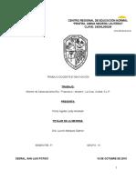 """Informe de la Esc. Primaria """"Francisco I. Madero"""", La Cruz, S.L.P."""