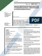 Abnt - Nbr 12094 Mb 3431 - Espuma Rigida de Poliuretano Para Fins de Isolamento Termico - Determinacao Da Condutividade Termica