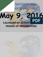 NAL2016 Calendar of Activities