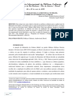 POLÍTICAS CULTURAIS PARA O AUDIOVISUAL NO BRASIL