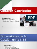 Dimensión, Proceso e Instrumento - Gestión Curricular