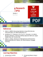MKTG460 - Marketing Research With SPSS (Modular 3)