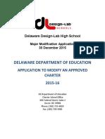 DL Major Mod Application 123015