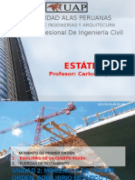 Estatica Clase 07a Equilibrio de Un Cuerpo Rigido(2d) Uap