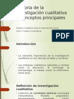 Historia de La Investigación Cualitativa y Conceptos Principales