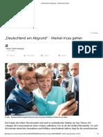 """2016.01.16 """"Deutschland Am Abgrund"""" - Merkel Muss Gehen"""