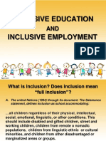 3 Inclusive Education