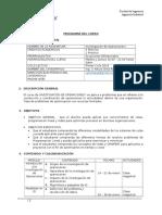 Programa de Curso Investigación de Operaciones I Sección 4