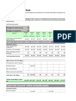 Cashflow Forecasting Template