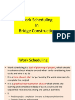 Work Scheduling in Bridge Construction