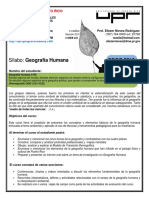 Silabo GEOGRAFIA HUMANA 3150 UPR RIO PIEDRAS 2016
