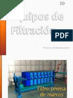 Equipos de Filtración