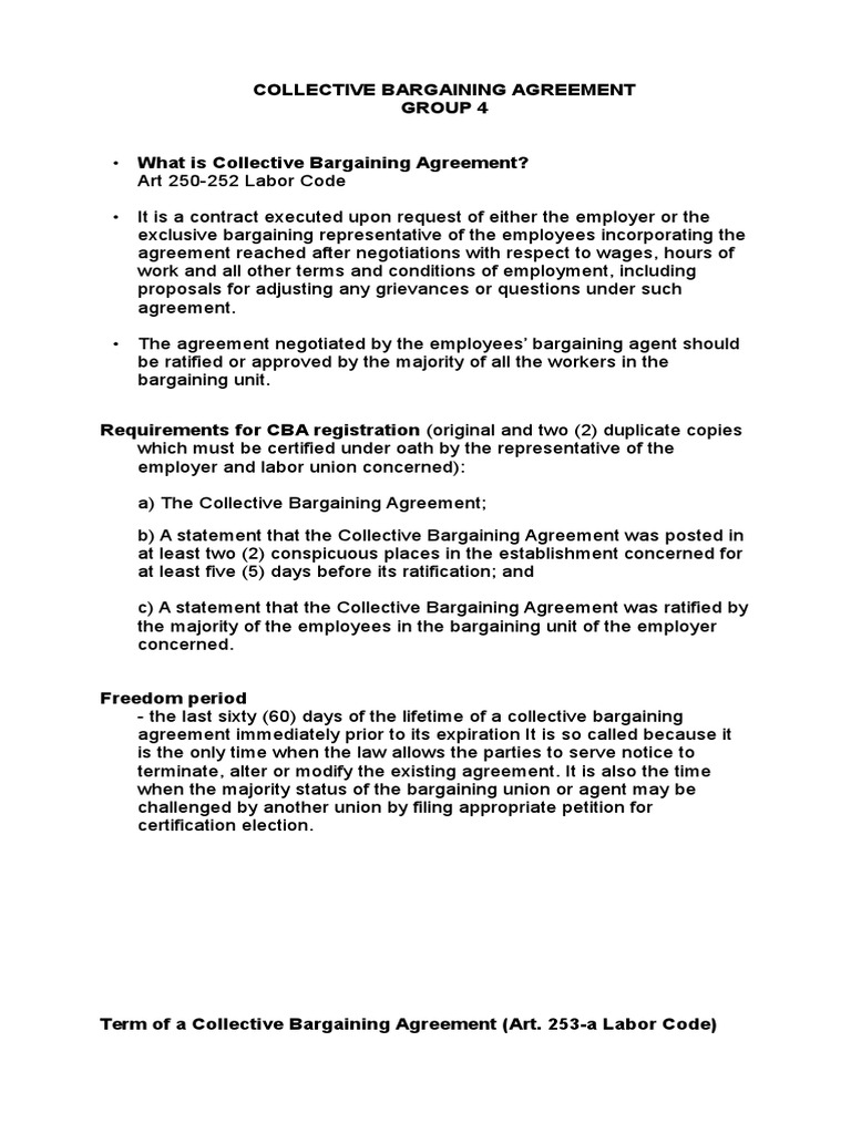 COLLECTIVE BARGAINING AGREEMENT.docx | Collective Bargaining | Ratification