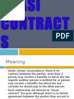 Mod 1. 12. Quasi Contract