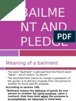 2.2 Bailment and Pledge
