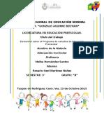 1.Ensayo Acerca de Los Elementos Sobre El Programa de Estudios de Educación Preescolar