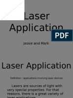 Laser Application(Quiz to Be Given on 2-14)