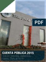Cuenta Pública 2015 del Tercer Tribunal Ambiental de Chile