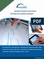 Touch Based Human Machine Interface Market Analysis (2015-2020) - IndustryARC