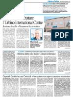 L'Ersu vuole sfrattare l'Urbino International Centre - Il Resto del Carlino del 20 gennaio 2016