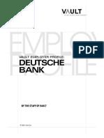 The Vault Guide to Deutsche Bank