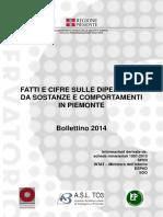 Fatti e cifre sulle dipendenze in Piemonte 2014