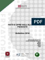 Fatti e cifre sull'alcol in Piemonte Bollettino 2014
