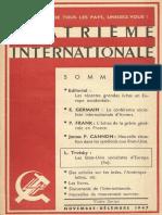 Quatrième Internationale I, Nº 39, 1947