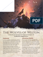 The Wolves of Welton - A Single-Session Adventure