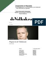 Onderzoek Plagiaat Volkskrant - Aanpak PR