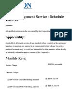 Jackson Electric Member Corp - Load Management Service - Schedule LMS-1