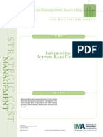 Implementing Activity Based Costing