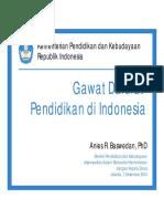 Presentation Gawat Darurat Pendidikan Di Indonesia