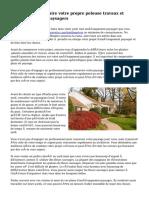Les avantages de faire votre propre pelouse travaux et aménagements paysagers