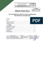 Procedura Managementul Riscurilor