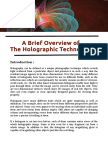 A Brief Overview of the Holographic Technology