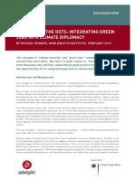 Green Jobs & Climate Diplomacy
