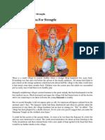 Hanuman Sadhana for Strength