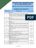 Schedule Quantity