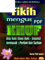 Fiqih Mengusap Khuf (Alas Kaki)