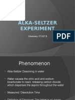 Alka Seltzer Experiment