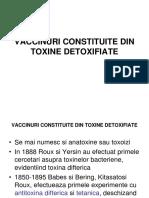 Vaccinuri Constituite Din Toxine Detoxifiate