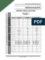Aits Ft i (Paper 1) Pcm(Sol) Jee(Advanced)