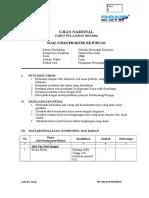 SOAL Uji Kompetensi Keahlian (UKK) Teknik Pemesinan Paket 1 tahun ajaran 2015/2016